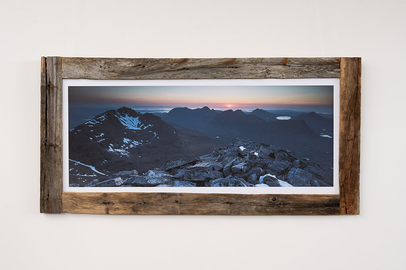 Liathach May Sunset Larch Post Frame