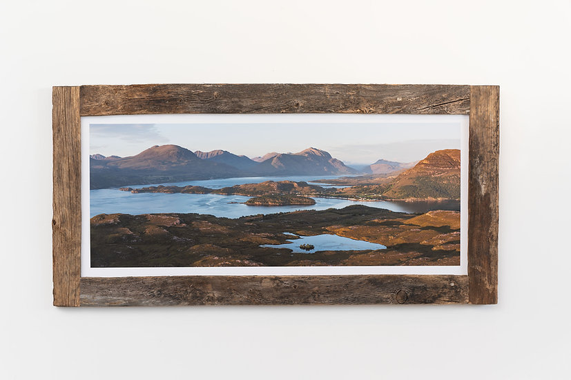 Shieldaig Sunset Larch Post Frame