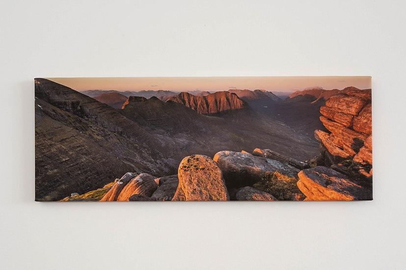 Sunset on Beinn Alligin Canvas