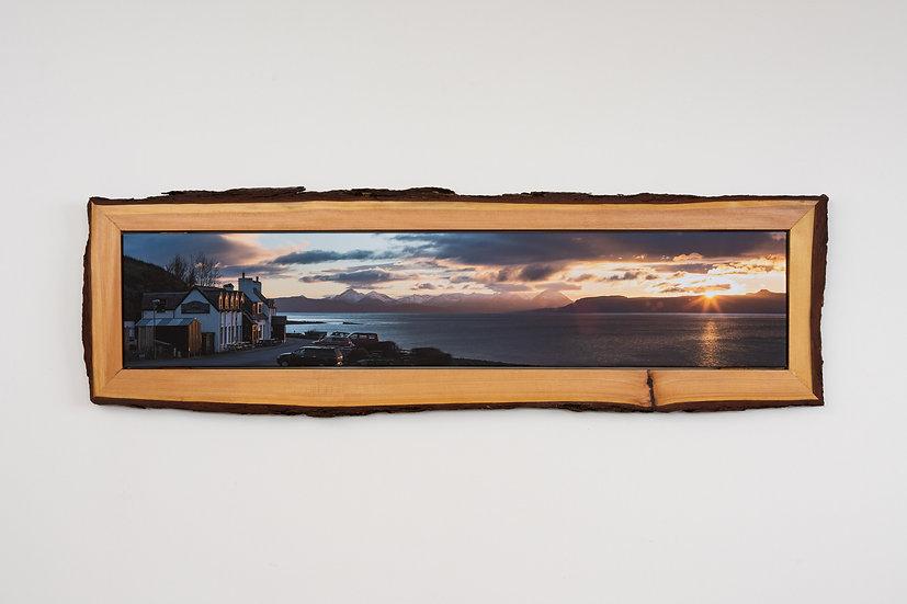 Applecross Inn Sunset Waney Edged Frame