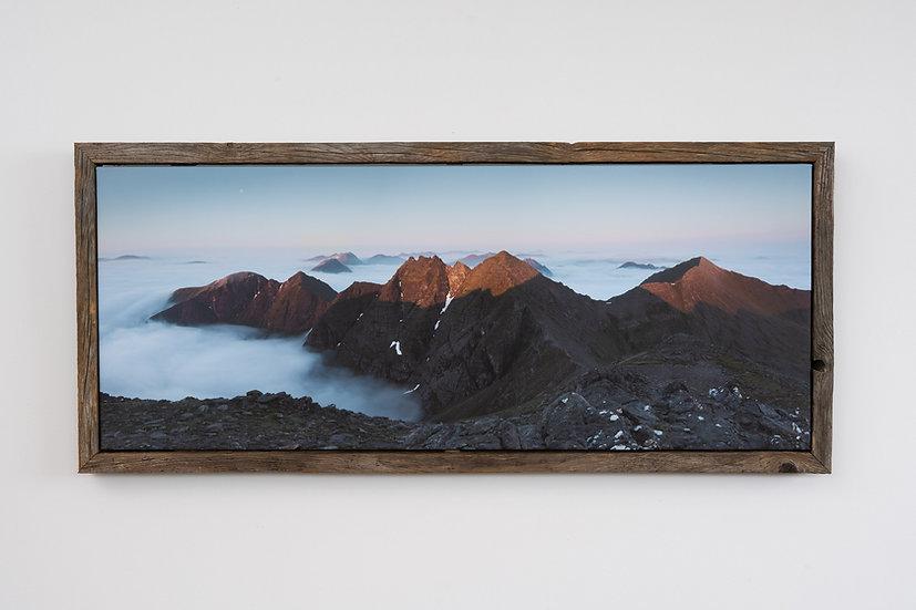 Sunrise on An Teallach Floating Post Frame
