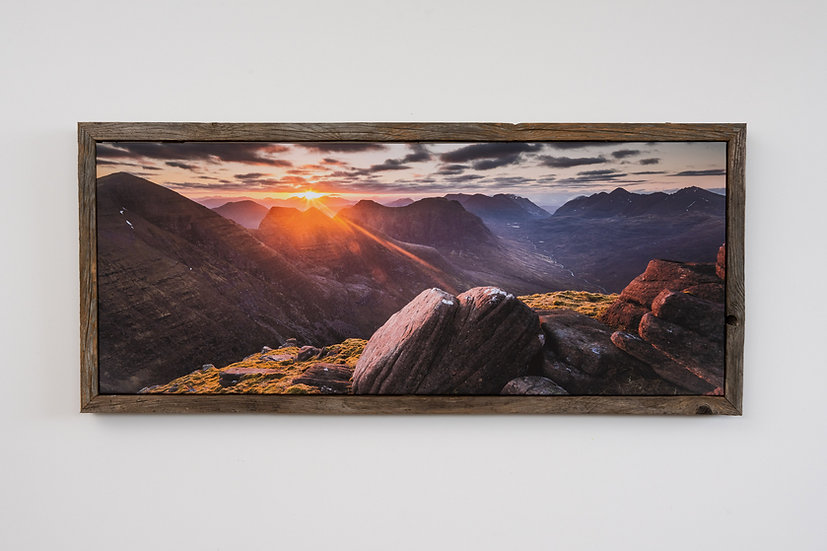 Sunrise on Beinn Alligin Floating Post Frame