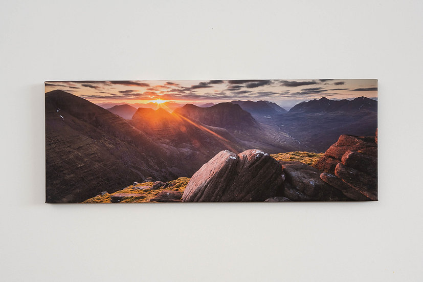 Sunrise on Beinn Alligin Canvas