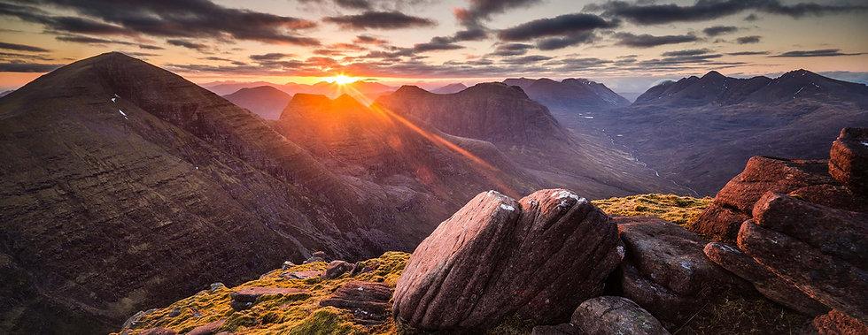 Sunrise on Beinn Alligin Signed Print