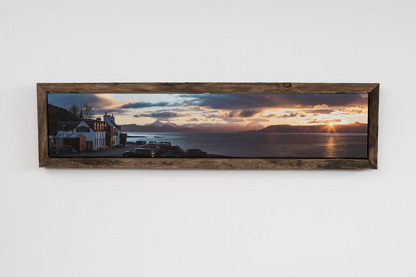 Applecross Inn Sunset Floating Post Frame