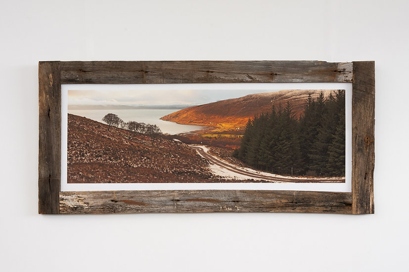 Applecross Bay from the Bealach Larch Post Frame