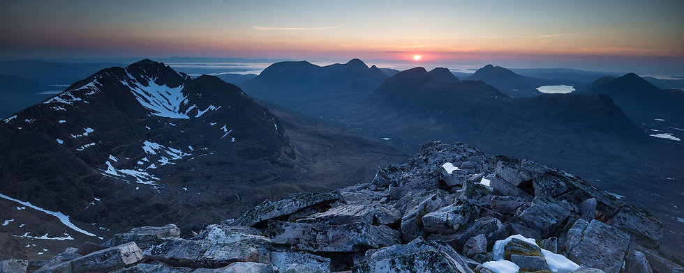 Liathach May Sunset Signed Print