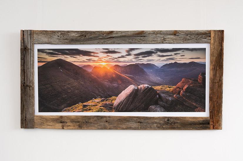 Sunrise on Beinn Alligin Larch Post Frame