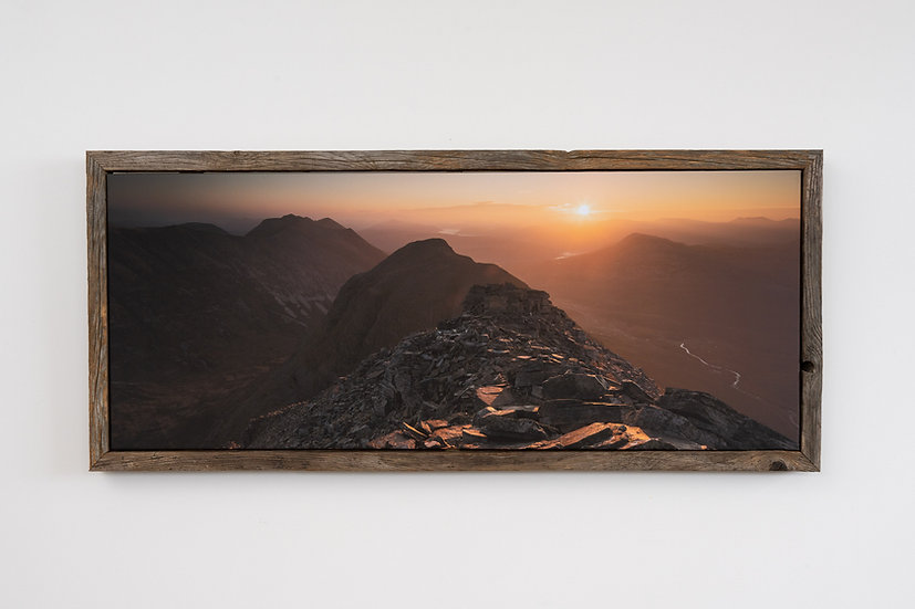 Liathach October Sunrise Floating Post Frame