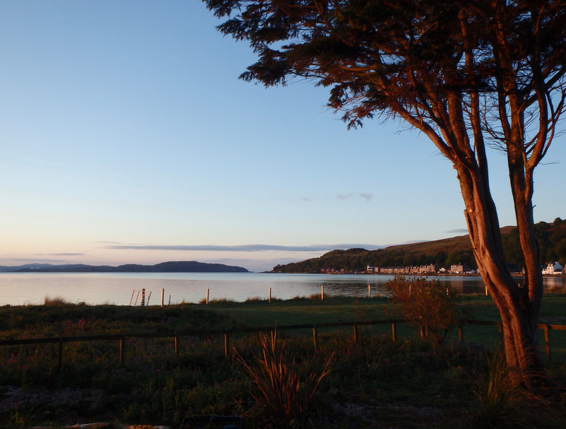 The view from the front garden at dawn.
