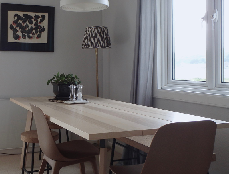 The dining table.