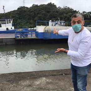 BALSA RESERVA ESTÁ AUXILIANDO NA TRAVESSIA DO FERRY BOAT