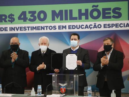GOVERNO DO ESTADO VAI INVESTIR MAIS DE 400 MILHÕES DE REAIS NA EDUCAÇÃO ESPECIAL