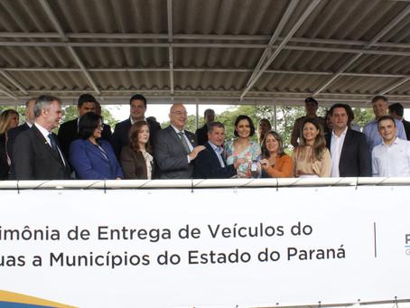 Parceria entre Governos Estadual e Federal libera 237 veículos para Municípios do Paraná