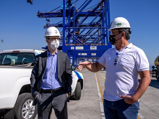 Novo delegado da PF em Paranaguá conhece estrutura da segurança portuária