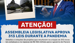 Assembleia Legislativa aprova 313 leis durante a pandemia