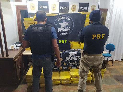 PRF e PCPR apreendem uma tonelada de maconha em Cascavel