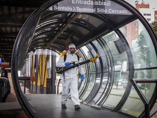 Ônibus, terminais e pontos de parada têm nova rodada de sanitização