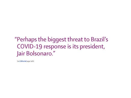 """COVID-19 no Brasil: """"E daí?"""" (OPINIÃO)"""