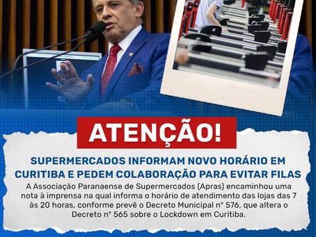 COM NOVO HORÁRIO SUPERMERCADOS PEDEM A COLABORAÇÃO DAS PESSOAS