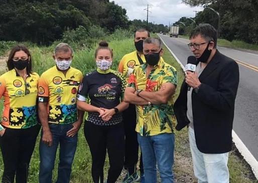 Ciclistas pedem segurança de tráfego em Pontal do Paraná