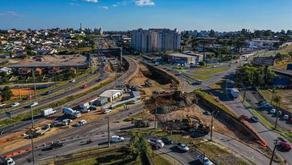 Obras no Trevo do Atuba ainda estão em ritmo lento