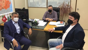 Beto Preto recebe deputado Galo e prefeito de Farol