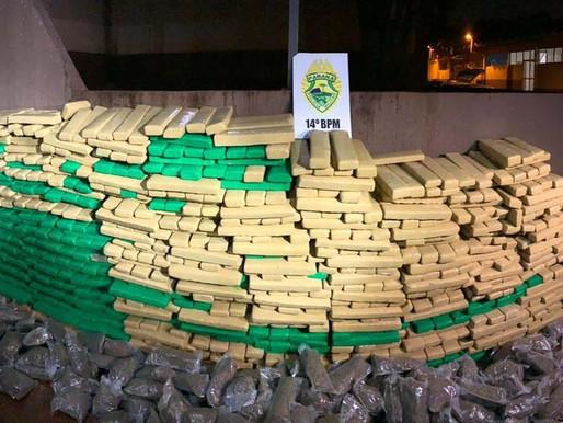 PM apreende 1,5 tonelada de maconha em apartamento em Foz do Iguaçu