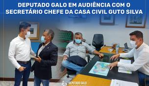 Deputado Galo em audiência com o Secretário Chefe da Casa Civil Guto Silva