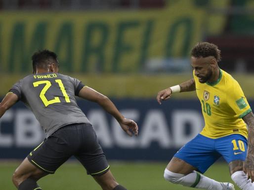 Brasil vence Equador e dispara na ponta das Eliminatórias