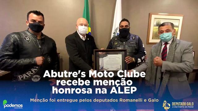 CLUBE DE MOTOQUEIROS RECEBE  MENÇÃO HONROSA DA ALEP