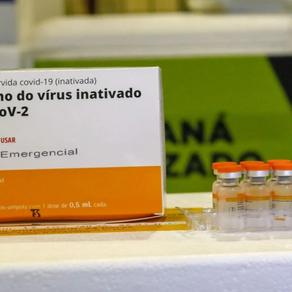 Curitiba recebeu frascos de CoronaVac com doses menores