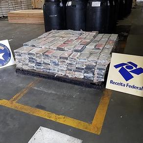 Receita Federal apreende 545 quilos de cocaína no Porto de Paranaguá