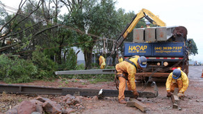 Temporal quebrou mais de 500 postes no Oeste e Noroeste do Estado