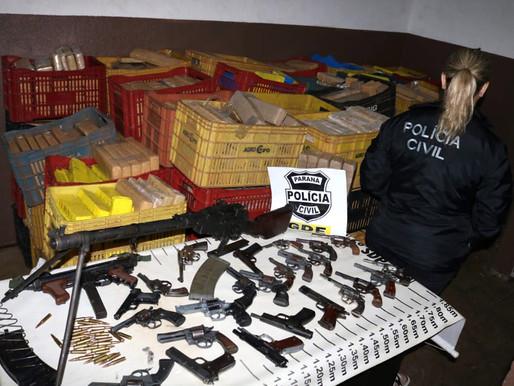 Apreensões de armas de fogo caem 10% no Estado no 1.º quadrimestre