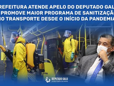 DEPUTADO GALO RECLAMA E PREFEITURA ANUNCIA DEDETIZAÇÃO NO TRANSPORTE PÚBLICO