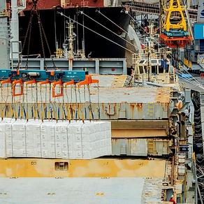 Porto de Paranaguá embarca maior carga de celulose