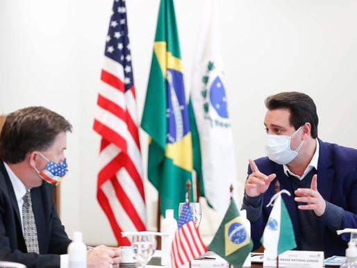Paraná formaliza acordo de cooperação mútua com os Estados Unidos