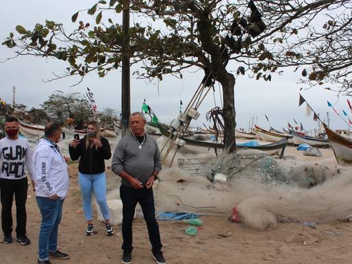Realidade dos pescadores de Matinhos tem apoio parlamentar