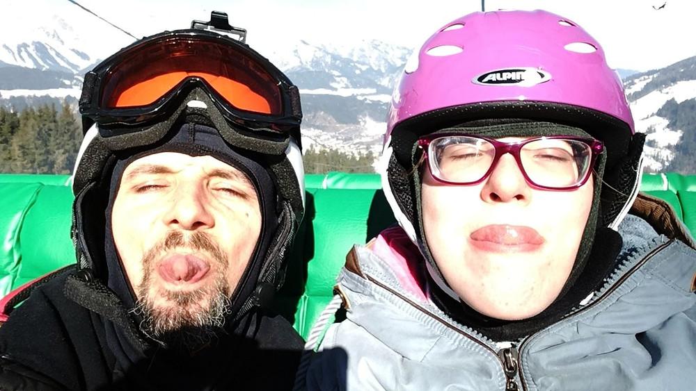 Spaß im Schnee, Sitzschi, Behindertensport