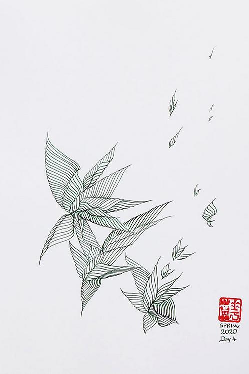 SOLD Organic Calligraphy 16