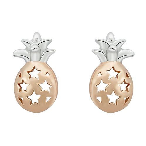 Pine Apple Silver Stud Earrings