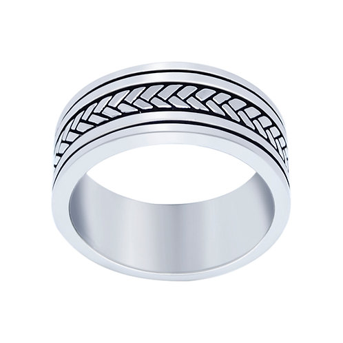 Men's Sterling Silver Oxidized