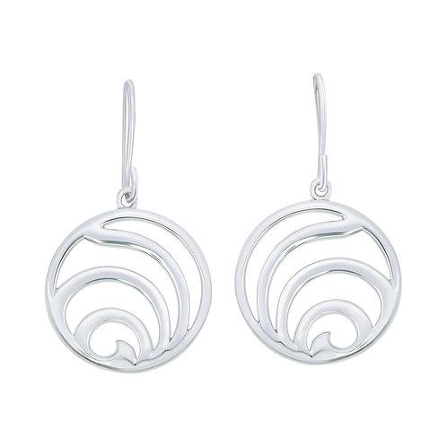 Open Work Silver Earrings