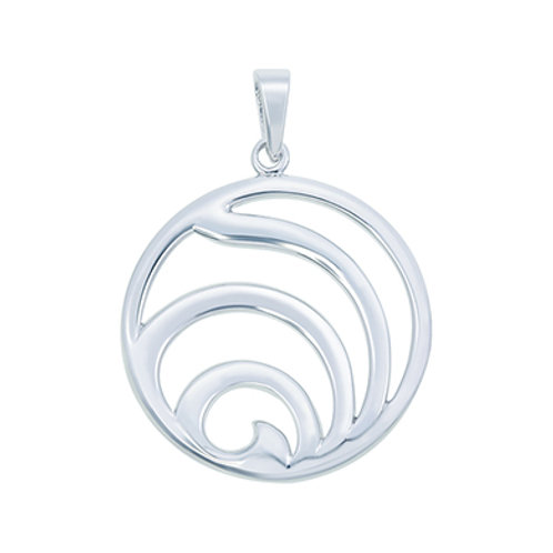 Circle Open Work Silver Pendant