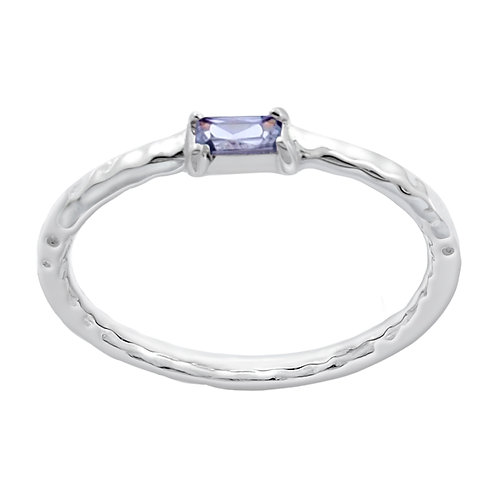 Stacking Ring with CZ
