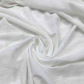 Gasa doble ancho - Blanco Tiza Arrugada
