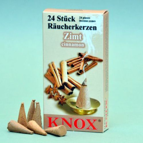 "#013-240 - Famous KNOX Brand ""Cinnamon"" Incense Cones - Box of 24"