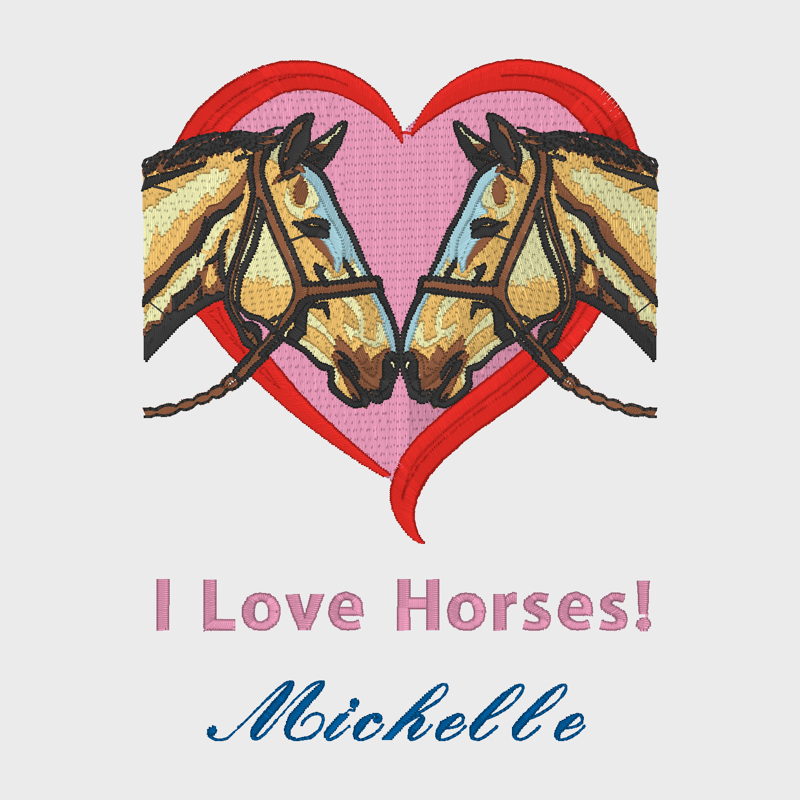 Heart with horses