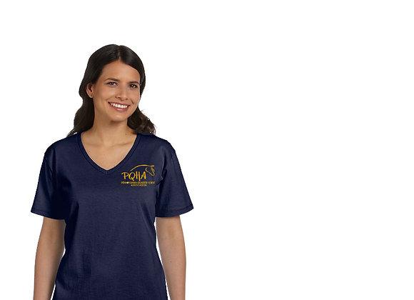 PQHA Cotton V-Neck T-shirt (Mens, Womens& Youth)